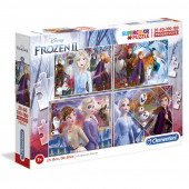 Puzzle Progressivo 4 em 1 Frozen 2 Disney
