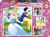 Puzzle Progressivo das  Princesas Disney - 17166