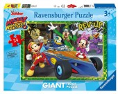 Puzzle Ravensburger 24 peças Super Colorido Mickey Roadster Racers