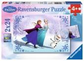 Puzzle Ravensburger 2x24 peças Frozen