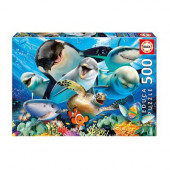 Puzzle Selfie debaixo de água 500 peças