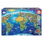 Puzzle Símbolos do Mundo 1000 peças Mini