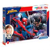 Puzzle Spiderman Venom Marvel 3D 104 peças