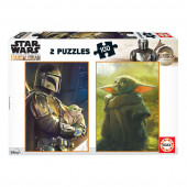 Puzzle Star Wars The Mandalorian 2x100 peças