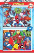 Puzzle Super Heroes Adventures Marvel  2x20 peças