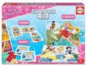 Puzzle Superpack 4 em 1 Princesas Disney