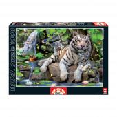 Puzzle Tigres Brancos 1000 peças