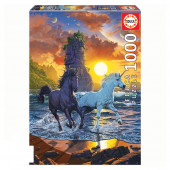 Puzzle Unicórnios na Praia 1000 peças