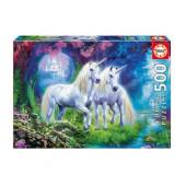 Puzzle Unicórnios no bosque 500 peças
