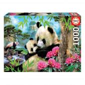 Puzzle Ursos Panda 1000 peças