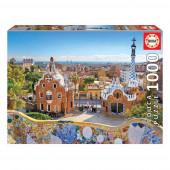 Puzzle Vista Barcelona do Parque Guell 1000 peças