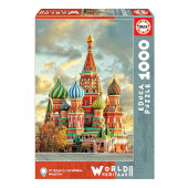 Puzzle World Heritage Catedral São Basílio Moscovo 1000 peças