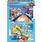 Puzzles Doraemon 2x100