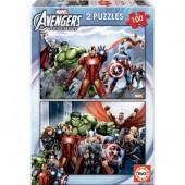 Puzzles Marvel Avengers 2 x 100 peças
