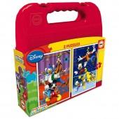 Puzzles Mickey Mouse Disney maleta 2x20pz