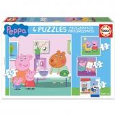 Puzzles Progresivos Porquinha Peppa Pig 12-20-25pz