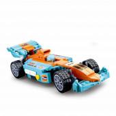 Racing Team F1 Carro 1:24 Rodas Direcionais 221 peças Sluban