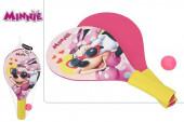 Raquetes Madeira + Bola Minnie Disney