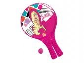 Raquetes Praia com bola da Barbie