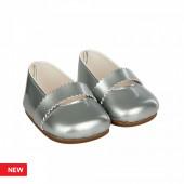 Reborn Arias Sapatos Cinza Bebé 45 cm