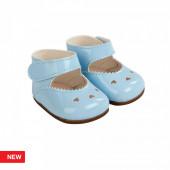 Reborn Arias Sapatos Corações Azul Bebé 45 cm