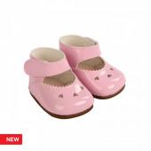Reborn Arias Sapatos Corações Rosa Bebé 45 cm