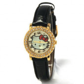 Relógio Analógico + Caixa Metálica Hello Kitty
