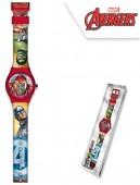 Relógio Analógico com caixa  Avengers Marvel