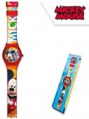 Relógio Analógico com caixa Mickey Disney