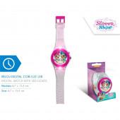 Relógio de pulso digital com luz led Shimmer e Shine