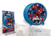 Relógio Despertador redondo 9cm de Spiderman