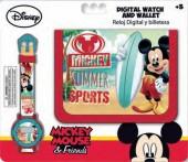 Relógio Digital + Carteira Mickey - Summer Sports