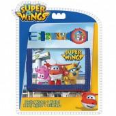Relógio digital + carteira Super Wings Airport