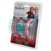 Relógio Digital Frozen 2 + Pulseiras