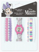 Relógio Digital + Pulseiras Minnie Unicórnio Disney