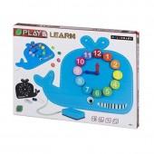 Relógio e quadro-negro de madeira Baleia - Play & Learn