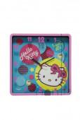Relógio Parede Quadrado Hello Kitty