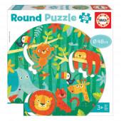 Round Puzzle 28 peças A Selva