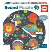 Round Puzzle 28 peças O Espaço