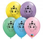 Saco 100 Balões Unicórnio Cores Sortidas 5