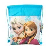 Saco desporto/lanche 35cm de Frozen modelo Anna e Elsa
