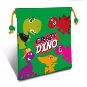 Saco Lanche Crazy Dino 22cm