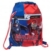 Saco lanche desporto Marvel Iron Man vs Capitão América
