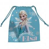 Saco lanche Frozen Elsa Blue
