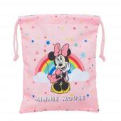 Saco Lanche Minnie Rainbow 25cm