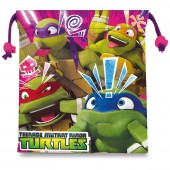 Saco mochila 22cm Tartarugas Ninja - Faces