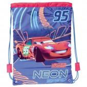 Saco mochila 29cm Disney Cars - Neon Speed