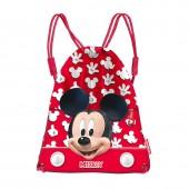 Saco Mochila 35cm Lanche/Desporto Mickey Mouse - Funny