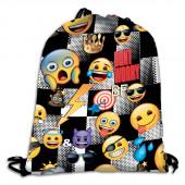 Saco Mochila  50cm Emoji Sticker