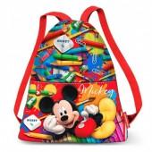 Saco Mochila com alças 42cm Mickey Disney - Crayons